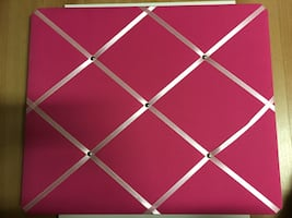Poster board with ribbon