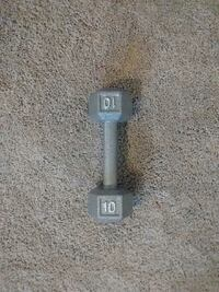 gray 10 fixed weight dumbbell Airway Heights, 99001