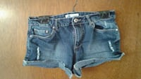 blue denim distressed short shorts Winnipeg, R2C 3K4