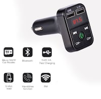 Bluetooth car kit handsfree talk MP3 player fm transmitter dual car