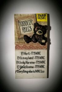 TODDLER RULES WALL HANGING PICTURE Omaha, 68111