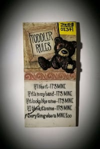 TODDLER RULES WALL HANGING PICTURE