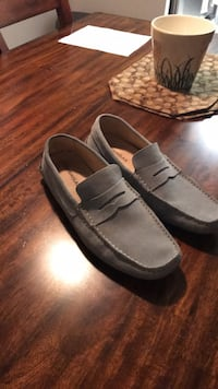 Italian suede loafers, blue, size 45 Toronto, M9A 0A3