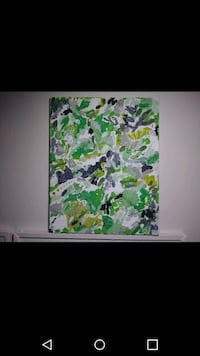 green and grey abstract nature painting Milwaukee, 53202