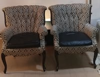two black-and-gray sofa chairs Washington