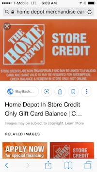 130 Home Depot store credit for 100 Houston, 77066