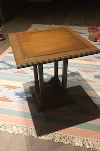 Wooden plant stand side table set of 3