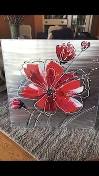 red and white flower painting Arlington, 22204