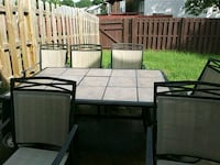 black patio table set with inlaid removable tiles Manassas, 20109