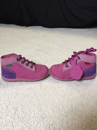 Pair of pink leather shoes