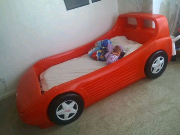Charming Little Tikes Blue Car Toddler Bed Race