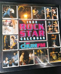 1982 CHUM FM ROCK STAR CALENDAR SEALED