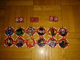 Twelve Avengers Token and Three sets of 6 Sided Dice