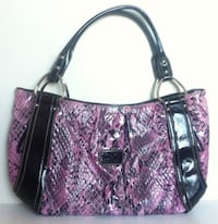 LIKE NEW D&G Faux Snakeskin Laptop/Tablet Handbag, Lilac and Black Montreal
