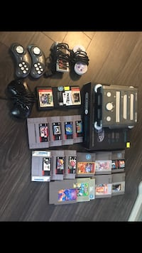 Retron 3. Plays all NES SNES and Sega games comes with 17 games and 5 controls.  Edmonton, T6E