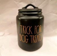 "Rae Dunn Halloween ""trick for dog treats"" caniste Toronto, M1M 2G4"