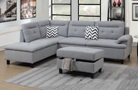 Brand new light grey sectional sofa with storage ottoman  Silver Spring, 20902