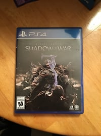 PS4 Middle Earth Shadow of War New Westminster, V3M 4Z8
