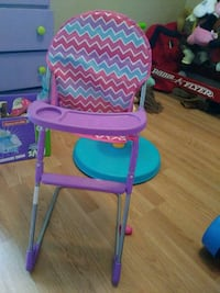baby's pink and blue high chair Powell, 35986