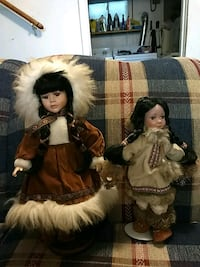two brown and white dressed dolls Kansas City, 66104