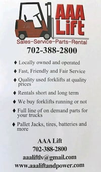 Forklift and equipment repair  Las Vegas
