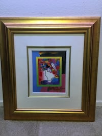 Peter max authentic signed mixed media Irvine, 92614