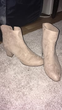 Nude suede booties Port Coquitlam, V3C 1R6
