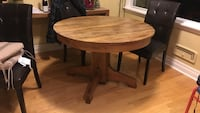 brown wooden pedestal table Kingston, K7M 2Y1