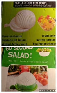 Salad in 60 seconds..5 bowls at 5 dollars each