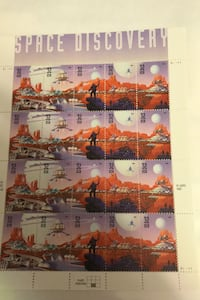 US Stamp - 1998 Space Discovery - 20 Stamp Sheet   #3238-42 fv $6.40