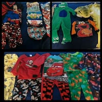 21 PIC  PAJAMAS TOODLER AGE 2T/3T CLOTHES