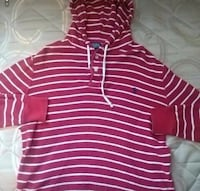 Red polo sweater