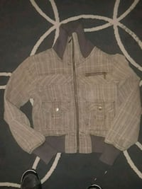 brown and gray button-up jacket Edmonton, T6C 1W1