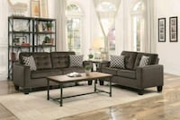 Lantana Chocolate Classic Living Room Set with Pil Houston