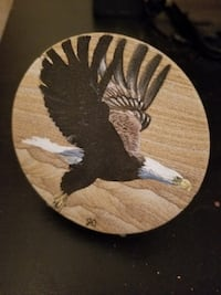 Hand carved sandstone coaster from the walls of the grand canyon Coquitlam