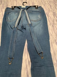 Distressed blue-washed jeans Mississauga, L5M 3L2
