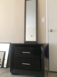 black wooden dresser with mirror Silver Spring