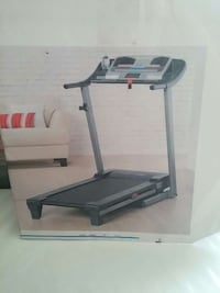 gray and black treadmill
