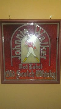 Johnny Walker Red Label stain glass in picture fra Calgary, T2C 1B6