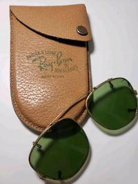 vintage ray ban sunglasses clip on with case Pearl, 39208