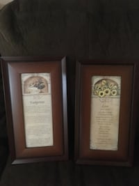 Framed pictures/poems- excellent condition Brampton, L6V