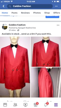 red and black formal suit jacket Toronto, M1B 2C2