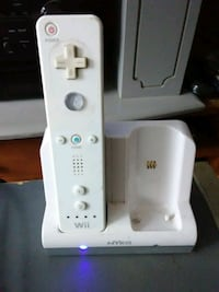 Wii remote with rechargeable battery and charger