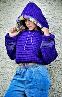 toddler's purple and white knitted sweater Gold River, 95670