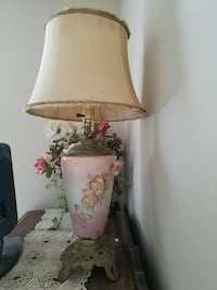 white and pink floral table lamp Westville, 32464