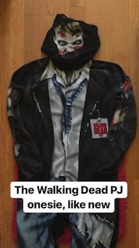 The Walking Dead PJ onesie, barely worn Brampton, L6R