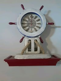 white and brown wooden ship helm wall clock College Park, 20740