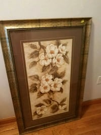 Gold wooden framed pic of flowers Peabody, 01960