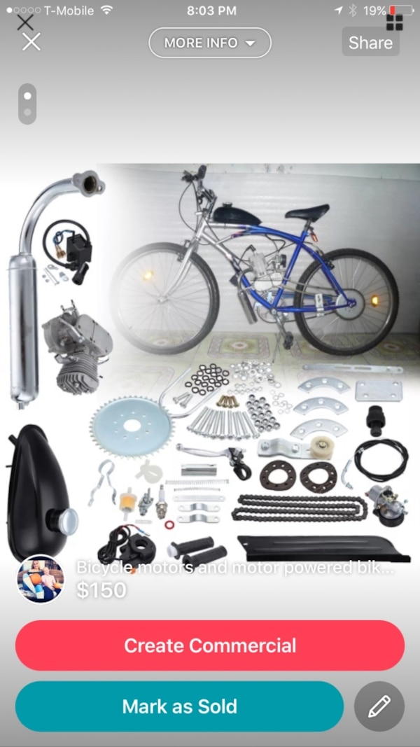 Gas powered bicycles (great gifts
