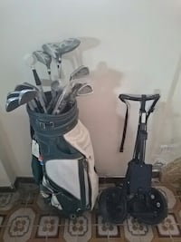 black and white golf club set with trolley Toronto, M6M